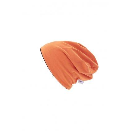 Dvojvrstvová čiapka Oranžová