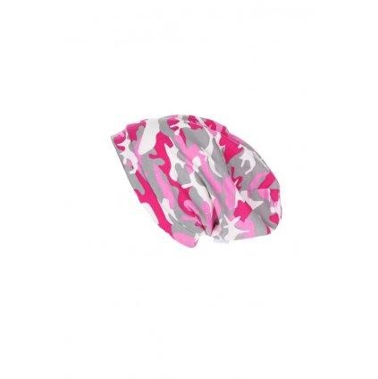 Jednovrstvová čiapka Ružový maskáč