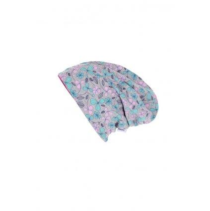 Dvojvrstvová čiapka Kvety