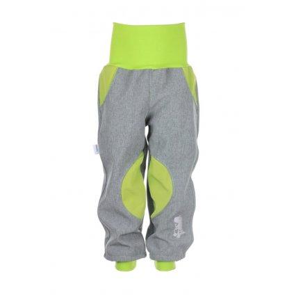 Zateplené softshellové nohavice Šedo-zelené