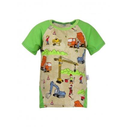 Detské tričko s krátkym rukávom Stavenisko