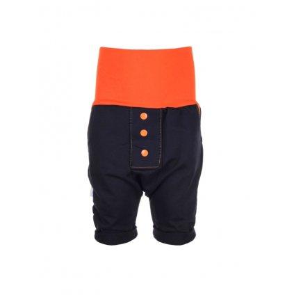 Detské baggy kraťasy Oranžové