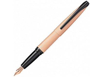 ATX, plnicí pero, růžově-zlaté kartáčované  Brushed Rose Gold