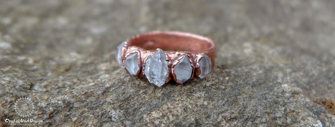 Prsten s herkimery