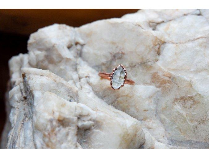 Prsten s  tibetským křišťálem vel. 50 - 51