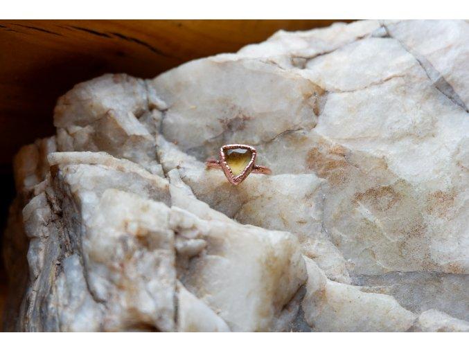 Prsten s citrínem vel. 48