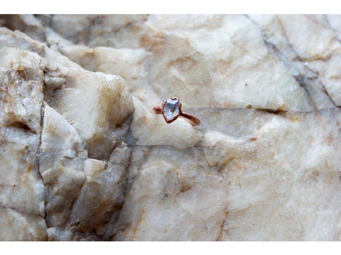 Prsten s herkimerským křišťálem vel. 50