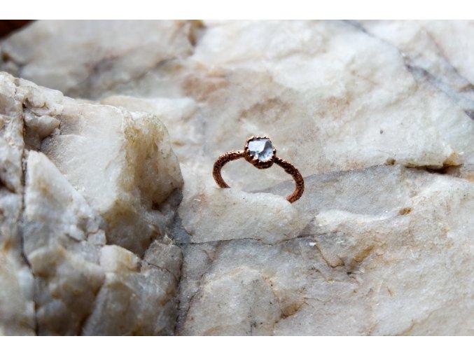 Prsten s herkimerským křišťálem vel. 51