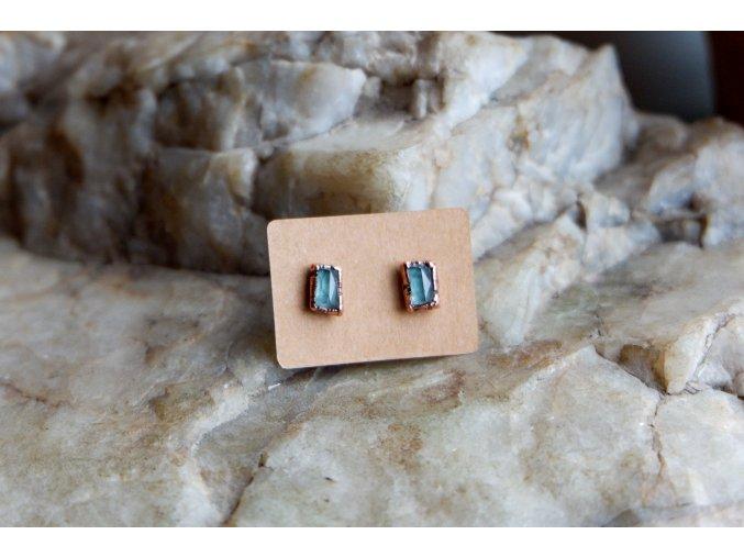 Náušnice s modrými turmalíny