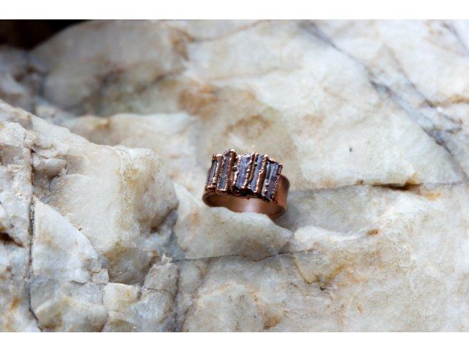 Prsten s růžovými turmalíny vel. 56