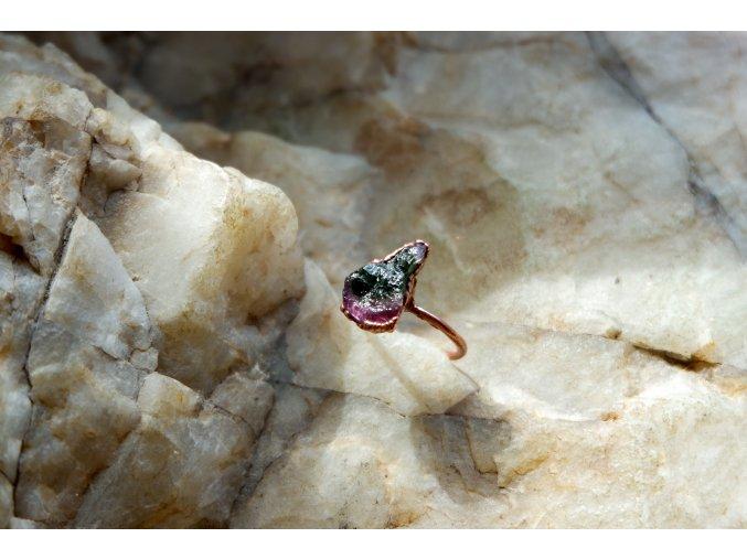 Prsten s melounovým turmalínem vel. 50