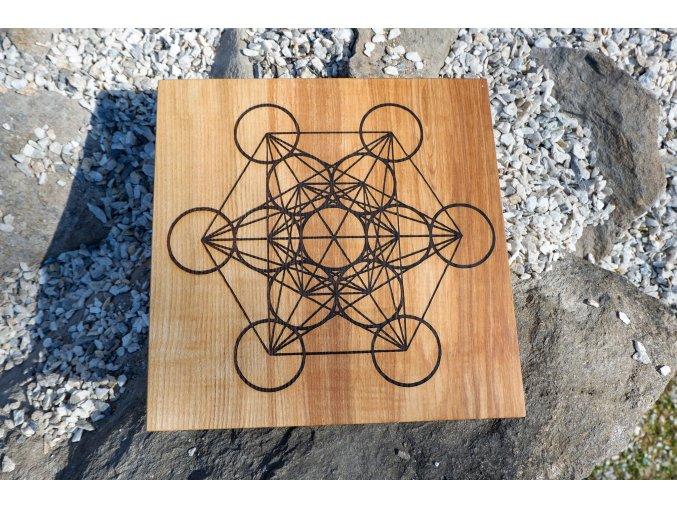 Podložka pod mřížky Květ života/Metatronova krychle