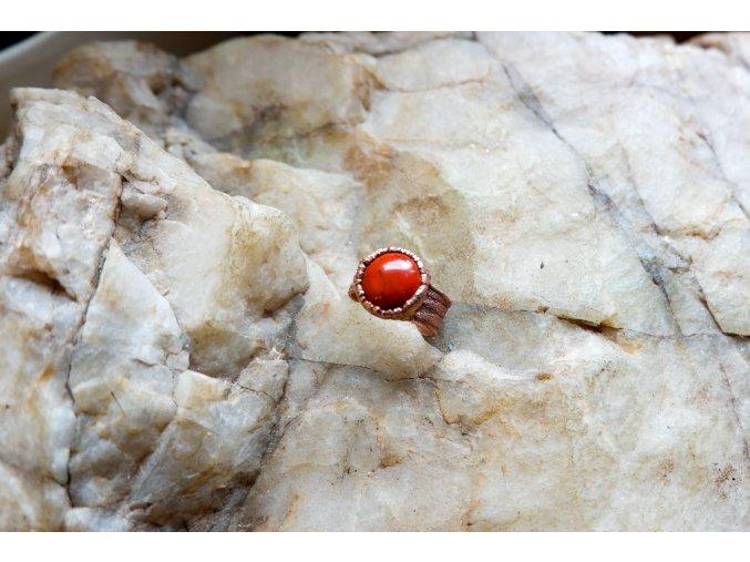 Prsten s červeným jaspisem vel. 53