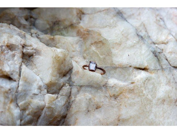 Prsten s růžovým turmalínem vel. 49
