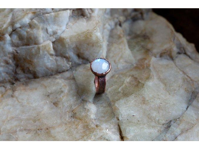 Prsten s měsíčním kamenem vel. 53-54