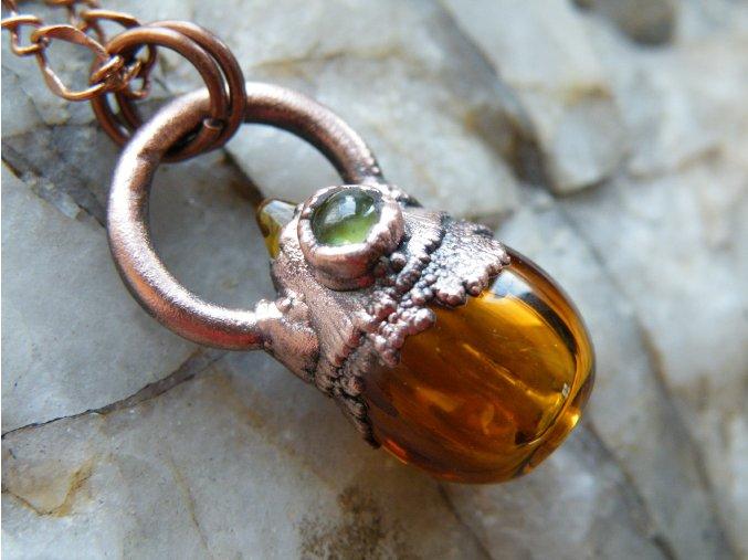 Krystalová esence - peridot (oranžová)