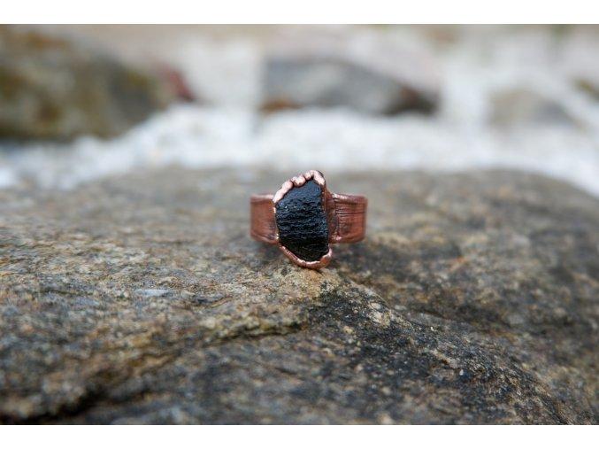 Prsten s vltavínem vel. 56