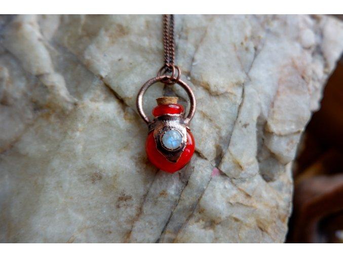 Krystalová esence - měsíční kámen  (červená)