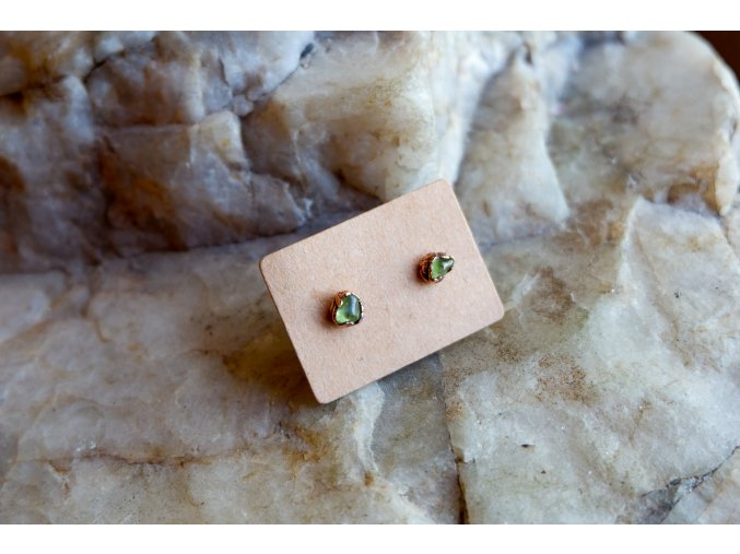 Náušnice s peridoty