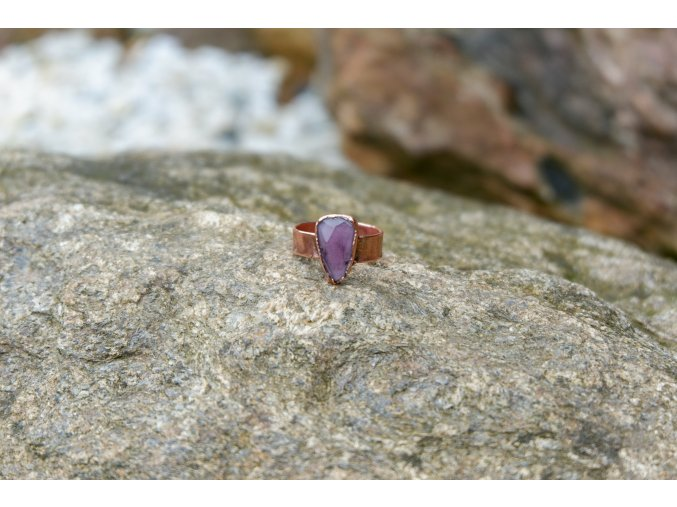 Prsten s růžovým turmalínem vel. 54-55