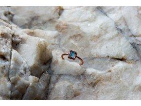 Prsten s modrým turmalínem vel. 51,5