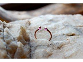 Prsten s růžovým turmalínem vel. 61