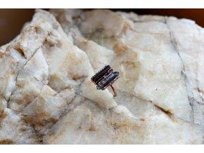 Prsten s tibetským křišťálem a skorylem vel. 48