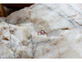 Prsten s růžovým turmalínem vel. 48