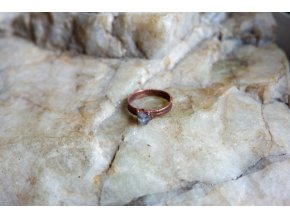 Prsten s melounovým turmalínem vel. 56