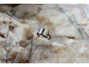 Prsten se zeleným a růžovým turmalínem vel. 56