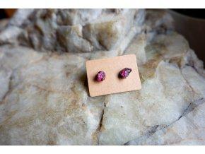 Náušnice s růžovými turmalíny