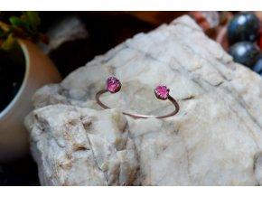Náramek s růžovými turmalíny