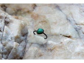 Prsten se smaragdem vel. 58