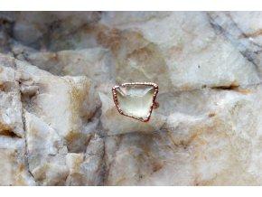 Prsten s libyjským pouštním sklem vel. 53