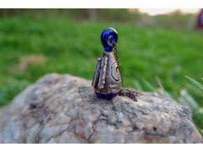Krystalová esence - křišťál (modrá)
