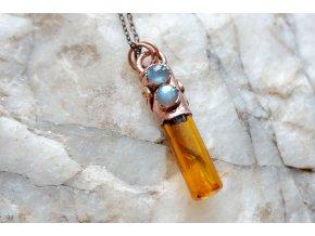 Krystalová esence - labradorit (oranžová)