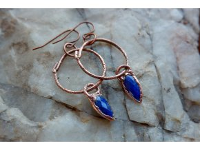 Náušnice s lapis lazuli
