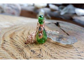 Krystalová esence - herkimer (zelená)