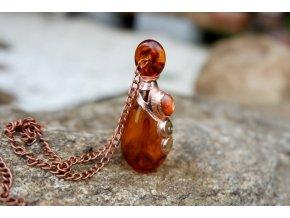Krystalová esence - sluneční kámen (oranžová)