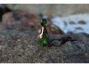 Krystalová esence - opál (zelená)
