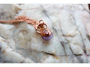 Krystalová esence - turmalín (fialová)