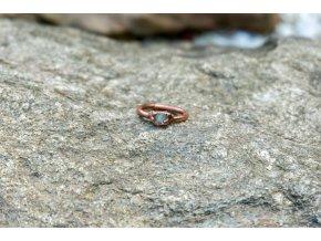 Prsten se žlutým danburitem vel. 51