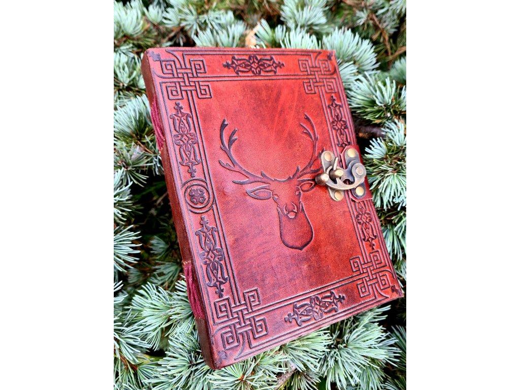 Kožený deník - jelen