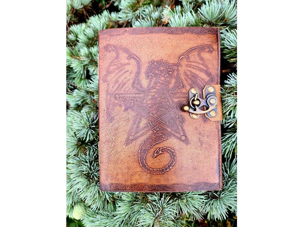 Kožený deník - drak