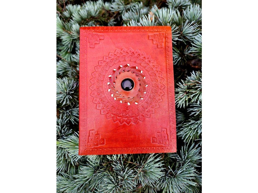 Kožený deník - obsidián