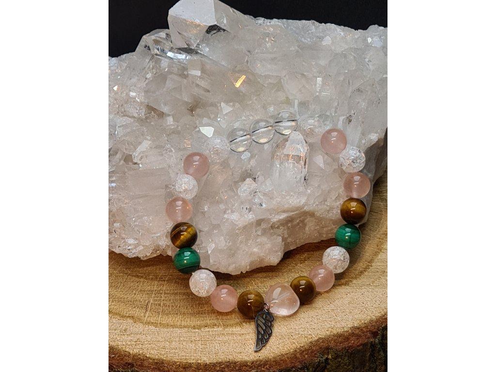 Náramek z minerálních kamenů - BEZPEČÍ