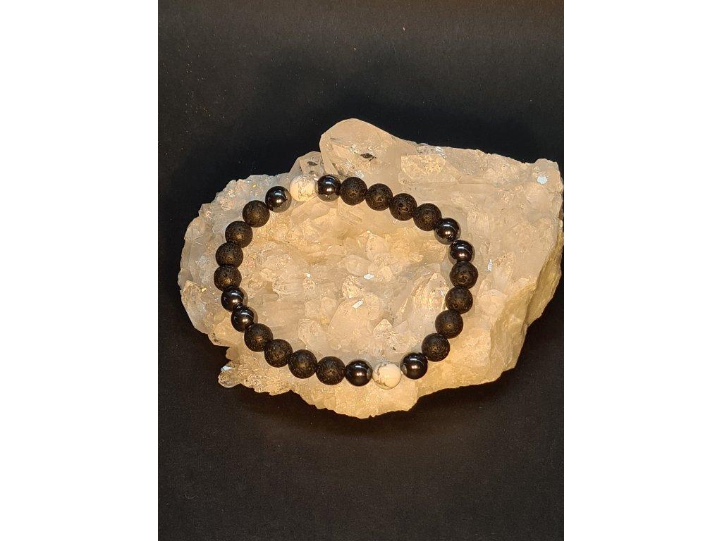 Náramek z minerálních kamenů - PÁNSKÝ pro ochranu a sílu