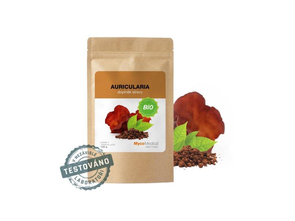 Mycomedica Auricularia prášek BIO 100g