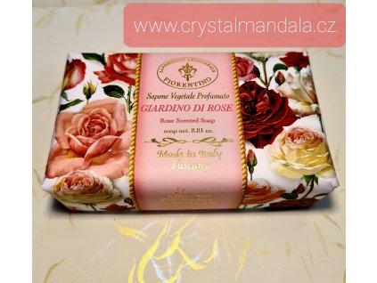 Přírodní mýdlo - giardino di rose