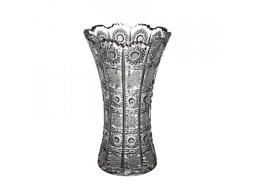 Broušená váza X 80029/230mm. Klasický brus 500 PK.